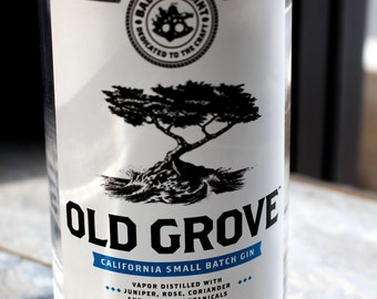 One Upcycled Old Grove Gin Bottle Tumbler