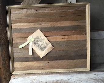Memo board | handmade Reclaimed lath and vintage frame  | office | organization