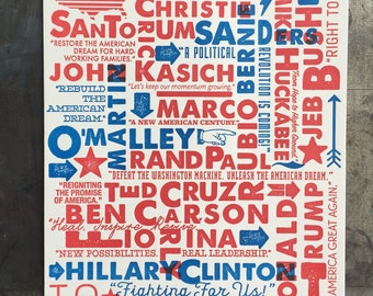 Caucus Print, 2016 political print