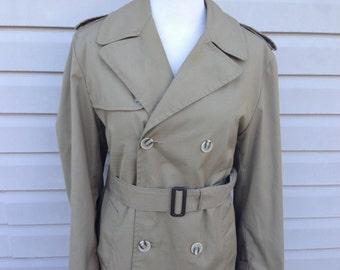 Khaki Women's Trench Coat - Size 40 Regular - Medium, Large