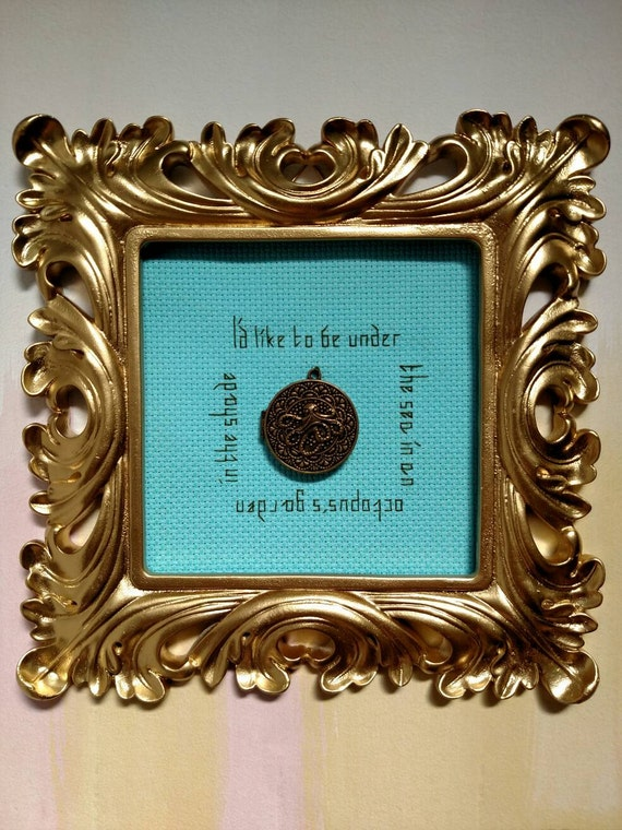 The Beatles Framed Octopus 39 S Garden Lyrics In Counted