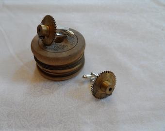 Brass Gear Cuff Links