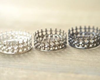 Crown Ring - Sterling Silver Ring