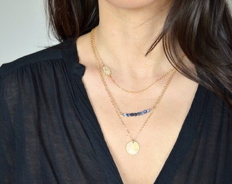 Hamsa Hand with Cubic Zirconia - Silver or Gold - Layering Necklace