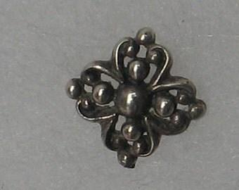 8mm Single  Flower  Sterling  Post Earring