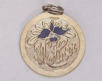 Mother Sterling Silver Charm Enamelled