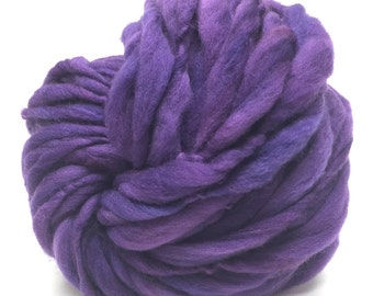 Handspun super bulky yarn in hand dyed merino wool - 50 yards, 3 ounces/85 grams