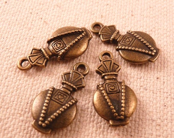 Brass Charms Perfume Bottle Brass Findings Brass Beads Earring Charms Earrings Beads Metal Beads Metal Findings Antique Brass Beads