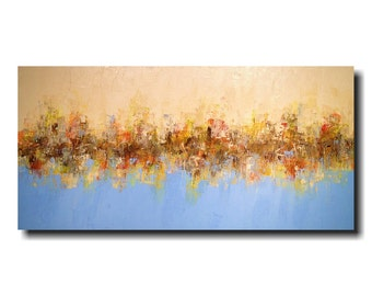 Large oil Paintings 24 x 48 - Art by JMJArtStudio- Burnt Orange- Wall Decor - Large wall art - In Search Of Ready to ship