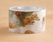 "Mark's ""Travel"" Series Japanese Masking Tape /  Japanese Monkey in Hot Springs 20mm for scrapbooking, packaging"