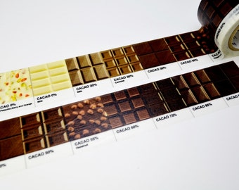Limited Edition mt Japanese Washi Masking Tape - Chocolate 30mm for packaging, tag making, scrapbooking