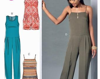 Adult Jumpsuit Pattern, Short Jumpsuit Pattern, McCall's Sewing Pattern 7394