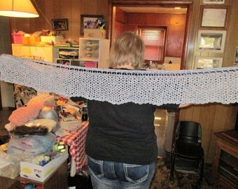 navy and white valance 48 inches wide - 7 inches long