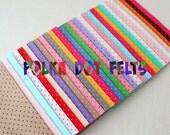 Polka Dot Felt - You Choose 10 6x9 inch sheets