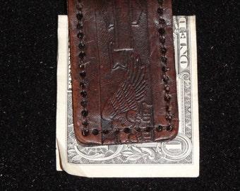 Embossed money clip