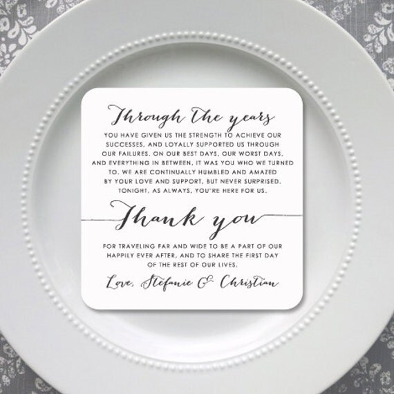 Thanks For Wedding Invitation Quotes: Wedding Reception Thank You Card Style TY74 BOMBSHELL
