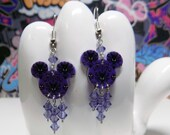 Mickey Mouse Haunted Mansion Wallpaper Double Sided Print Dangle Earrings