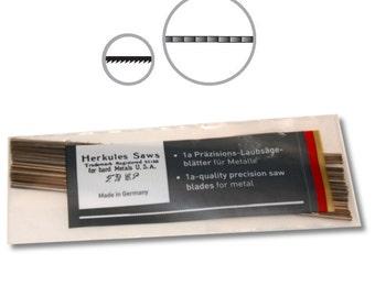 BIJ-816-P, Herkules White Label Brand 1a Precision Jeweler and Goldsmith Metal Saw Blades, 1 Gross