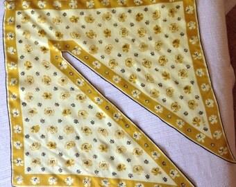 Vintage Vera Patent Pending Wingtip Silk Scarf