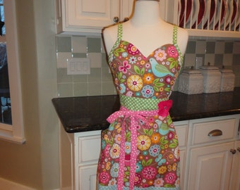 Sugar Cookie  ~ Cute for Easter & Spring - Alivia Style Sweeetheart Neckline  -  Women's Apron ~ 4RetroAprons