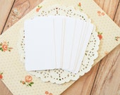 Cotton White 50pc handmade blank Business Cards