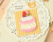 Strawberry Cake Fusen Collection Writing Marker sticker notes