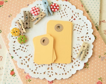 Maize Yellow reinforced Rounded Midi Tags
