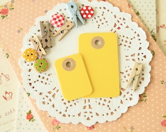 Daffodil Yellow reinforced Rounded Midi Tags