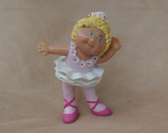 Blond Ballerina in Pink PVC Cabbage Patch Figure  1984 Hong Kong Made
