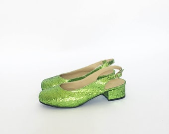 Diane Slingback Heeled Ballerinas (Handmade to Order)