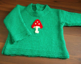 Hand Knitted Wool Baby Sweater Hand knit Baby Cardigan MADE TO ORDER