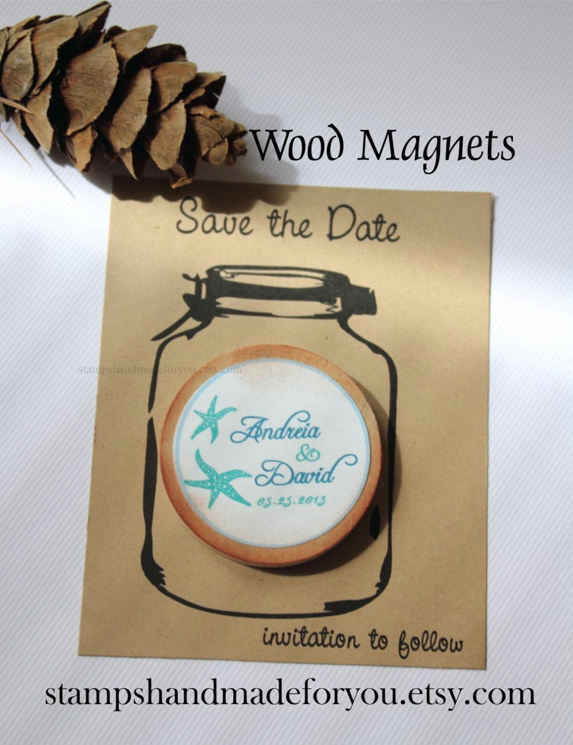 Save the dates magnets in Brisbane