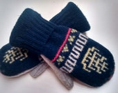 Men's Wool Mittens, recycled sweater mittens, recycled wool, lined mittens, warm mittens, mens