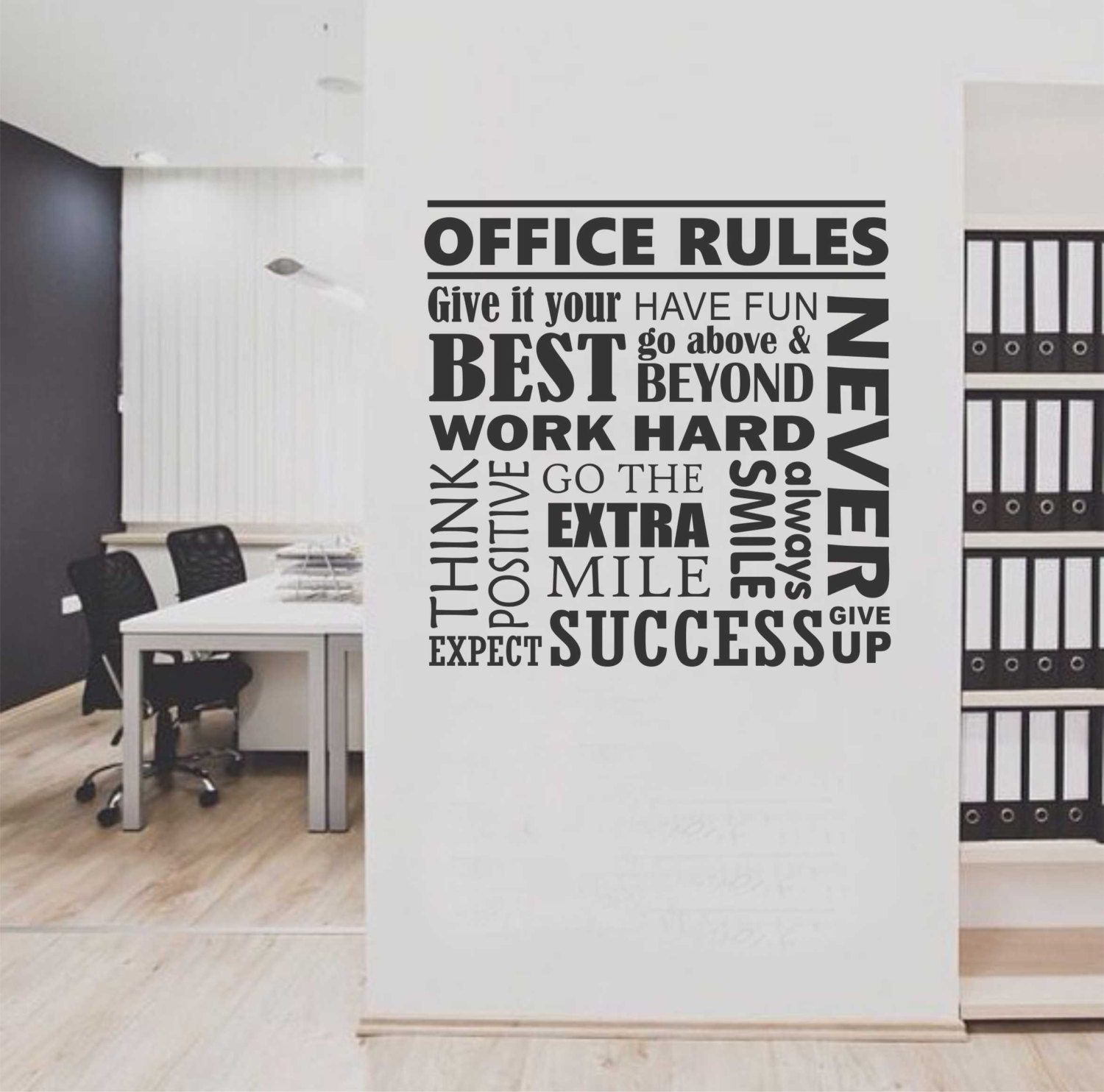 office rules collage vinyl wall lettering vinyl wall decals vinyl letters vinyl lettering wall quotes office decal