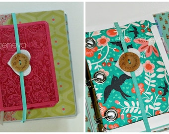 Journal Pen Pouch and Elastic Wrap Gift Set - Choose Any Fabric in My Shop -  Fill Me with Your Word Lord Button - Mini or Full Size Binder