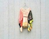 "romantic festival upcycled African ""PatchWork"" Funky Eco / Shrug / Wrap / Jacket / Poncho / Shirt / kaftan by CreoleSha"