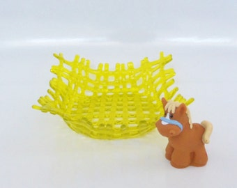Sunshine Yellow // Fused GLass Woven Dish // Bright // Fun // FunctionaL // Candy //Berries // Trinket // Unique //Cheerful / Summer// Weave