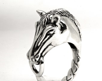 Horse Head Ring Sterling silver NYC Blue Bayer Design