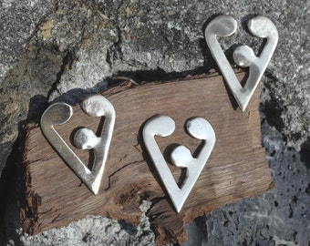 Family Heart Shape, 22.5mm x 16.9mm Blanks Cutout for Enameling Stamping Texturing, Variety of Metals,