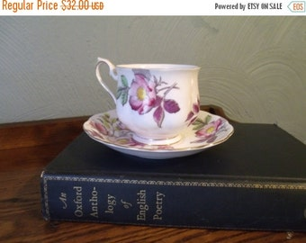 "SALE Vtg Royal Albert Teacup & Saucer, Sweetheart Roses Series, ""Anne"", England, Cottage Chic"