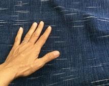 IDHF19: Medium Tone Indigo Fabric -  Ikat Pattern (random tie dye)