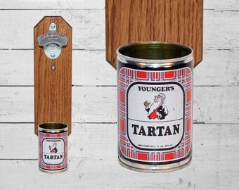Wall Mounted Bottle Openers With Beer Can Cap Catchers By