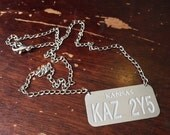 Brand new item -- SPN License Plate necklace. Laser cut stainless steel.