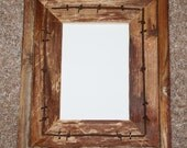 Rustic Barnwood Picture Frame 5 x 7 Fencewood with or w/o Barbed Wire Reclaimed Recycled