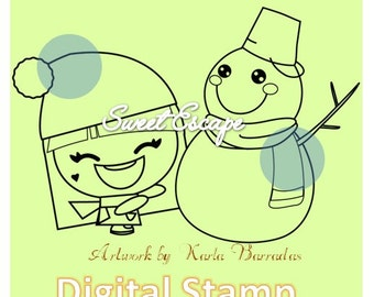 Christmas Millie Digital Stamp