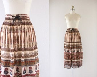 indian gauze festival skirt / one size
