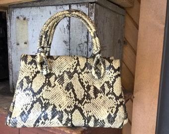 Crazy vintage vinyl faux snakeskin bag