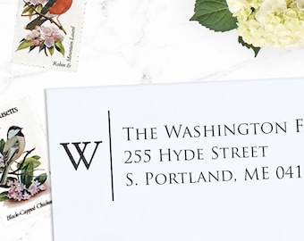 Personalized Address Stamp, Custom Address Stamp, Return Stamp, Wedding Stamp, Eco Mount  or Self Inking Stamp - Hyde St.