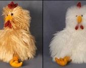 SOFT & FLUFFY Chickens Hand Made of Alpaca Fur