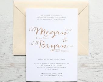 Megan Custom Wedding Invitation
